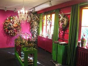 z.B. in grün und pink