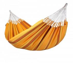 Currambera, bis 160kg, gestreifte Hängematte, Grundton:orange, mit kleinen gelben und roten Streifen, ca. 240 x 160cm, Aufhängeentfernung ca. 3,0m € 79,90