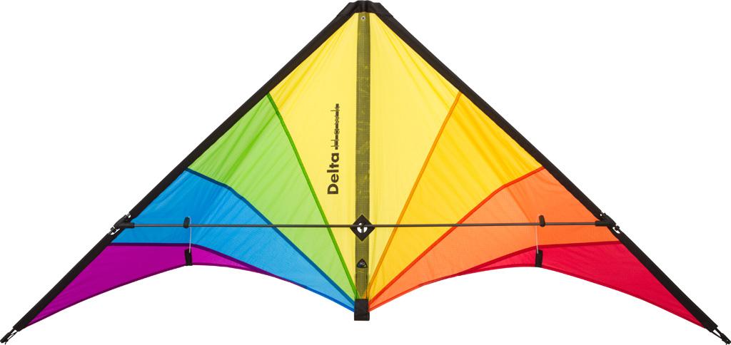 Der Dauerrenner unter den HQ-Sportkites. Der Delta Hawk ist für mittleren bis starken Wind konstruiert. Trotz gutmütigem Flugverhalten zieht er bei zunehmendem Wind sehr stark und wird schnell. Eventuell müssen sich die Piloten schon kräftig gegenlehnen. Sehr robuste Konstruktion. Breite: 146 cm Höhe: 72 cm Segel: Ripstop-Nylon Stäbe: 6 mm Kohlefaser Schnur: 70-100 kp, empf. Wind: 3-8 Bft. (12-74 km/h I 8-46 mph) Alter: ab 14 Jahre € 59,99